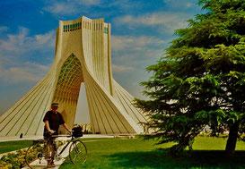 Iran und Umgebung mit der persönlichen Reiseroute