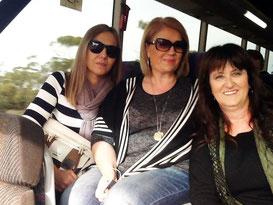 The President Mrs Ioannides, Ms Voula  Moutzouris  Secretary and Voula Dimko