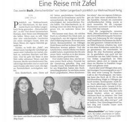 """Pressebericht Südkurier """"Eine Reise mit Zafel"""""""
