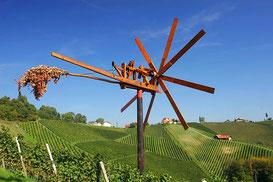 Klapotetz - Klappermühle zur Vögelabwehr in den Weinbergen