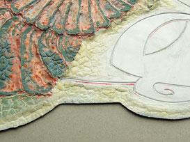 Detailansicht der Druckplatte