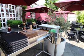 Terrasse - Biergarten des Restaurants