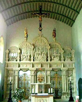 Antoniuskapelle heute mit dem Lettner