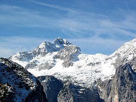 Der Triglav, höchster Gipfel und Nationalsymbol Sloweniens
