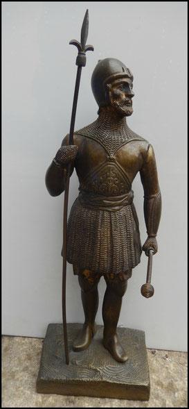 bronze homme d'armes guerrier