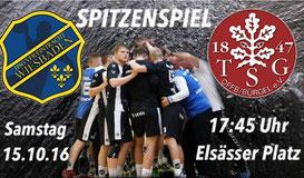 HSG VfR/Eintracht Wiesbaden vs. TSG Offenbach-Bürgel 15.10.2016 17:45 Uhr Elsässer Platz Handball Oberliga