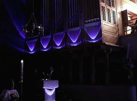 Illumination der Orgel zum Gloria in der Osternacht