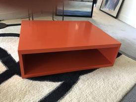 Caisson pour table basse coloris orange