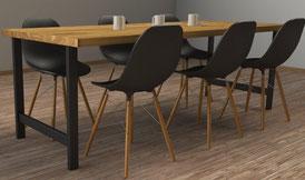Pied de table multiusage pour cuisine et salle à manger