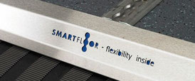 "Part of the Smartfloor with logo ""Smartfloor - flexibility inside"""