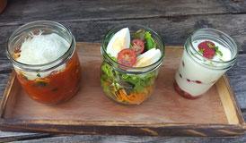 Mittagessen im Glas von Almmarie