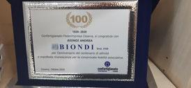 100 anni di attivita ringraziamo la nostra clientela per il traguardo raggiunto