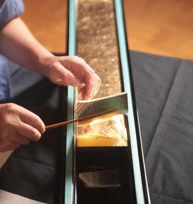 Gold leaf elegant finish for Buddhist altar MasayoshiNobata