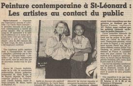 """Presse """"Le Populaire du Centre"""" lundi 8 septembre 1986"""