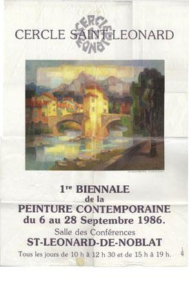 Affiche 1ère biennale 1986