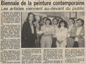 """Presse """"La Montagne"""" lundi 8 septembre 1986"""