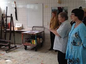 Atelierbesuch bei der Malerin Anja Witt in Aumühle