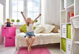 Analyse des Kinderzimmers, Schreikinder, Schlaflosigkeit bei Kindern, Schlafstörungen