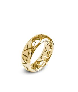gold Datum Ring römische Ziffern