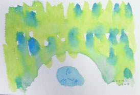 Arch of intellect   9×14cm   Watercolor on paper   2014