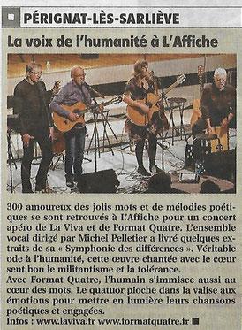 """Concert  à """"L'AFFICHE"""" Pérignat-Lès-Sarliève 17/11/2017 CO-PLATEAU LA VIVA/FormAt Quatre"""
