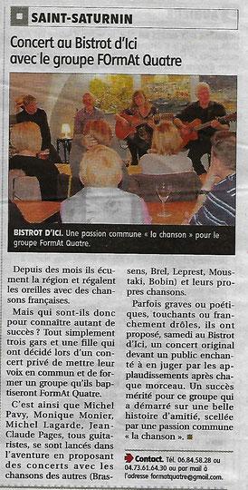 """Concert """"BISTROT D'ICI"""" 18/11/2017"""