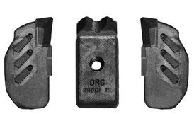 Kombination aus MINI DUO und seitlichen MONO EXTREME (L/R) Werkzeugen für SEPPI M. Forstmulcher STARFORST
