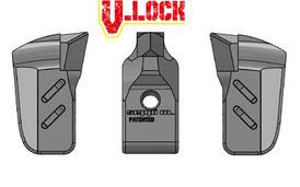Kombination aus MONO TIP V-LOCK und seitlichen MONO EXTREME V-LOCK (L/R) Werkzeugen für SEPPI M. Forstmulcher STARFORST