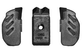 Kombination aus MINI DUO und seitlichen MONO EXTREME (L/R) Werkzeuge für SEPPI M. MIDIFORST Forstmulcher