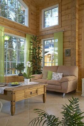 Fenster und Blockhaus - © Blockhaus Kuusamo