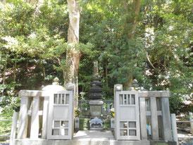 真ん中が五層石塔のお墓