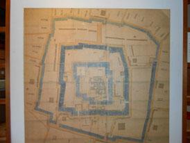 駿府城古地図