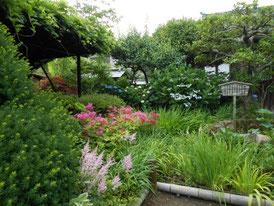 こじんまりした庭園、なかなか味がありました