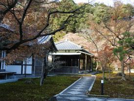 長寿寺 境内から書院