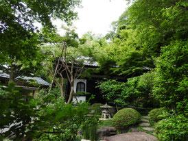 庭園と経堂