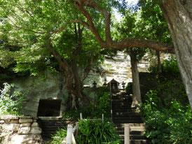 総門横の高台にある、祠堂