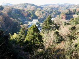 展望台から建長寺
