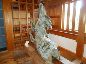 発見された東御門の鯱
