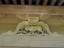 仏殿の十二支、虎の彫刻