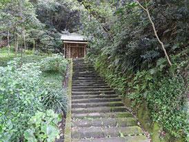 秋葉神社への石段