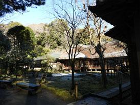 曇華殿裏から観る中庭