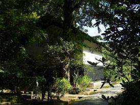 墓苑参道から松ヶ岡宝蔵へ