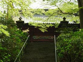 石段から二天門へ
