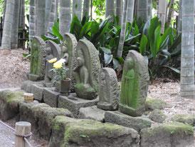 竹林の石仏
