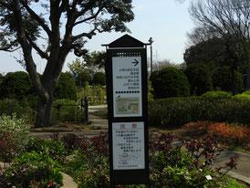 公園内の案内板