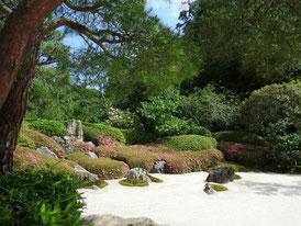 本堂前の古山水庭園