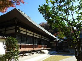 喜泉庵から本堂を観る