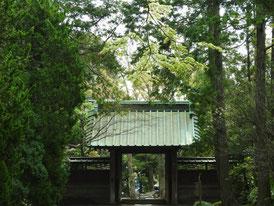 参道から見る山門