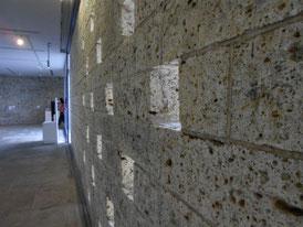 彫刻室の大谷石
