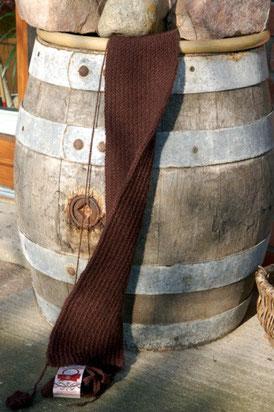 """gestrickter Schal im """"Englischen Rippenmuster"""" aus Bohemia Sport, Outlaw Yarn"""